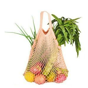 Handbags - French Cotton Market Net Tote/Bag/Pink/Short